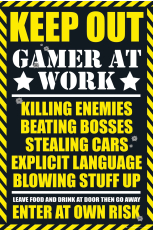 Keep Out (Gaming) Maxi Poster