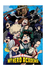 My Hero Academia Poster - Characters Shout