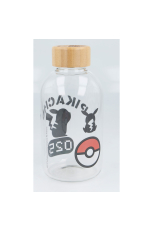 Pokemon, Pikachu Glasflasche / GLASS BOTTLE 620ml