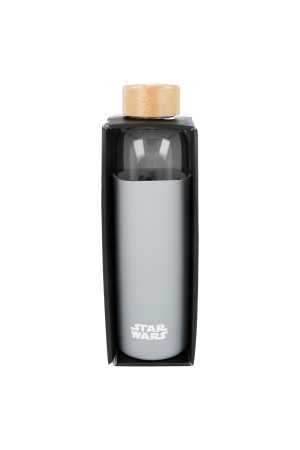 Star Wars, Logo Glasflasche mit Silikon Hülle / Glass Bottle w. Silicone Cover 585ml