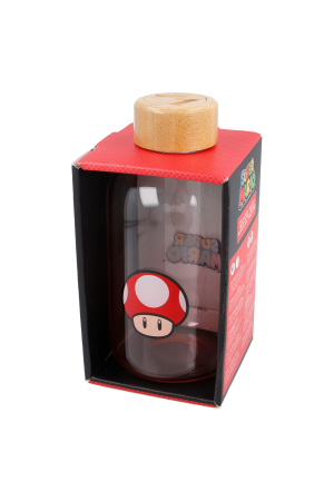 Nintendo, Power Up Mushroom Glasflasche / GLASS BOTTLE 620ml