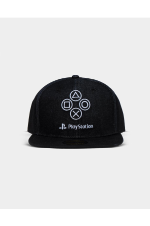 Sony - PlayStation - Denim Symbols Snapback Cap