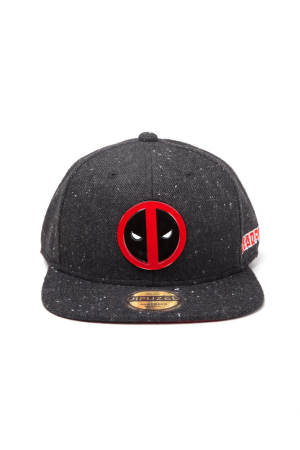 Deadpool - Metal Badge Logo Snapback Cap