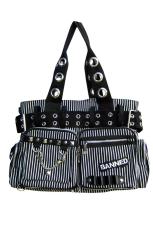 Banned, Bag Black/White w. Chain