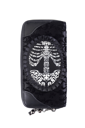 Banned, Ivy Black Ribcage Lace Wallet